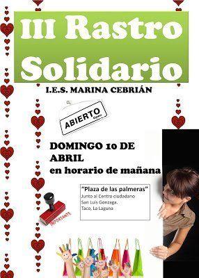El IES Marina Cebrián prepara su tercer Rastro Solidario