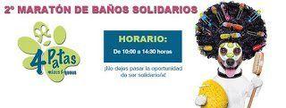 4 Patas organiza su segunda «Maratón de Baños Solidarios»