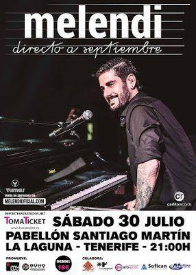 Melendi actuará en el Santiago Martín el próximo 30 de julio