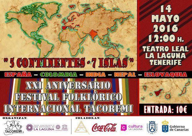 El festival folclórico internacional Tacoremi cumple este sábado su vigésimo primera edición