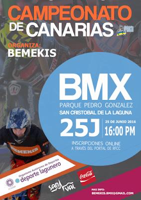 El Campeonato de Canarias de BMX se celebrará en el Parque de La Vega