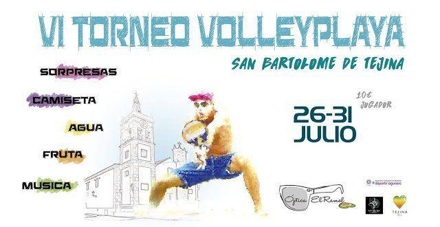 El VI Torneo de Voley Playa San Bartolomé de Tejina se celebrará del 26 al 31 de julio