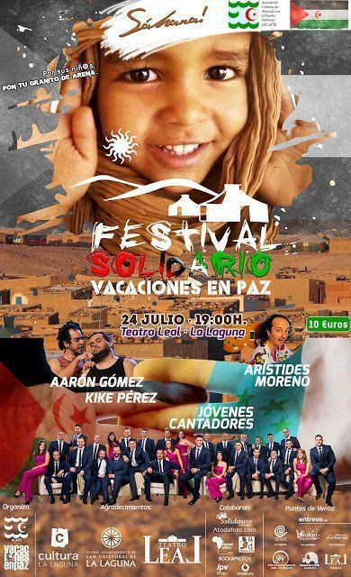 El Teatro Leal acoge el festival solidario 'Vacaciones en paz', a favor de los niños saharauis