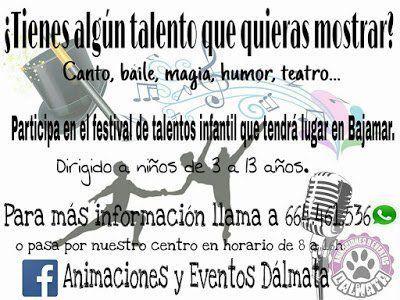 Bajamar celebrará un Festival de Talentos Infantil en el marco de sus fiestas patronales
