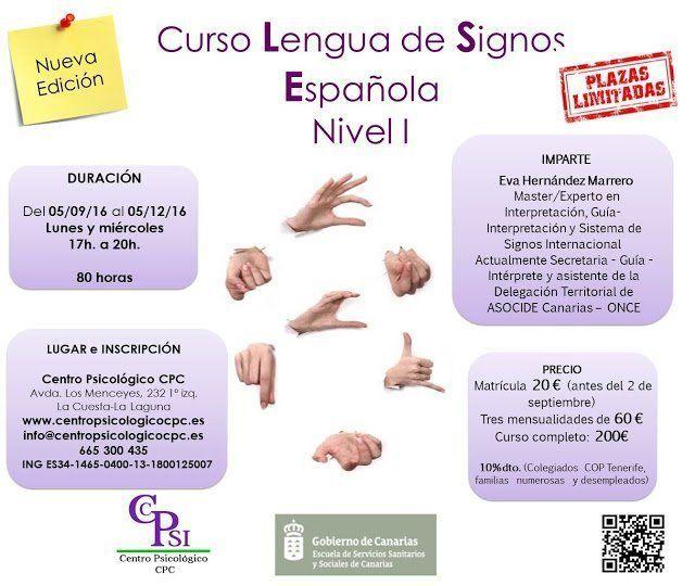El Centro Psicológico CPC comenzará en septiembre el curso de lengua de signos