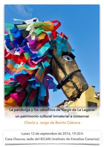Benito Cabrera ofrece hoy la conferencia 'La pandorga y los caballitos de fuego de La Laguna: un patrimonio cultural inmaterial a conservar'