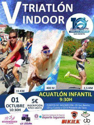 El V Triatlón Indoor se disputará el próximo 1 de octubre en el Complejo Deportivo San Benito