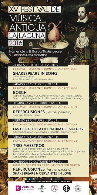 El 'Festival de Música Antigua' homenajeará a Shakespeare, El Bosco y Cervantes