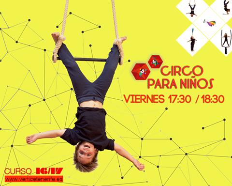 La Escuela de Acrobacia y Danza aérea Vértice anima a descubrir los beneficios de su circo para niños