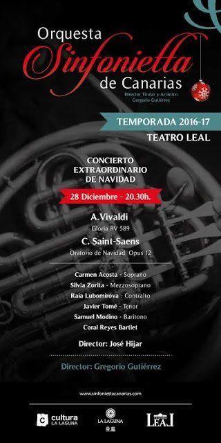 La Sinfonietta de Canarias ofrece en el Teatro Leal su concierto extraordinario de Navidad