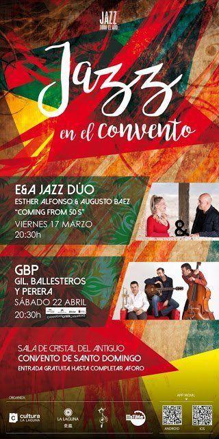 El ciclo 'Jazz en el Convento' regresa este viernes con el dúo formado por Esther Alfonso Da Costa y Augusto Báez