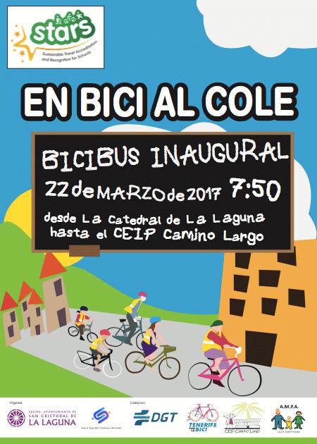 La Laguna es el primer municipio que se une al proyecto BiciBus que impulsa la DGT