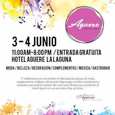 La habitaciones del Hotel Aguere se convertirán en tiendas los días de 3 y 4 de junio