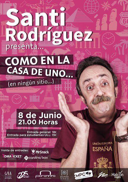Santi Rodríguez actuará el 8 de junio en el Paraninfo de la Universidad de La Laguna