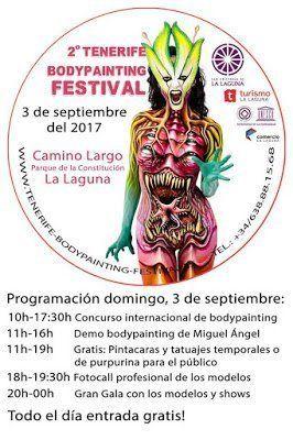 El 2º Tenerife Bodypainting Festival tendrá lugar este domingo