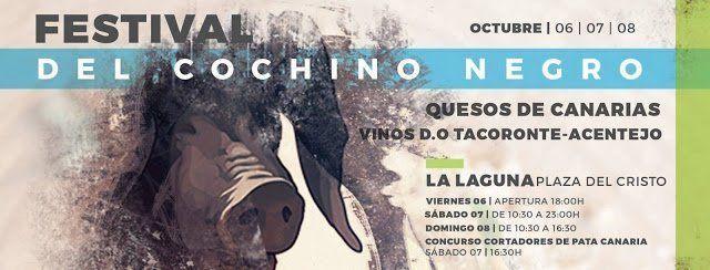 La Laguna acoge este fin de semana la segunda edición del Festival del Cochino Negro
