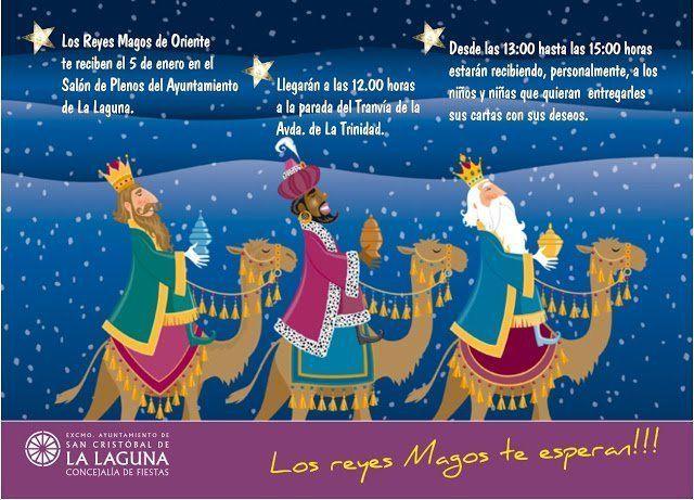 Sus Majestades los Reyes de Oriente reciben, por primera vez, en el Salón de Plenos de La Laguna a todos los niños y niñas que lo deseen