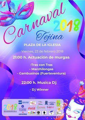 Este fin de semana, Tejina celebrará su Carnaval de Día