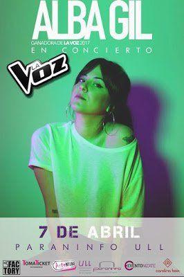 Alba Gil, ganadora de La Voz, actuará en La Laguna