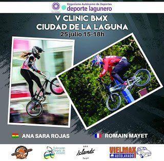 Los riders Sara Rojas y Romain Mayet impartirán hoy el V Clínic BMX Ciudad de la Laguna