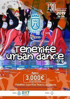 El Pabellón Juan Ríos Tejera acogerá el sábado 30 de noviembre el 'Tenerife Urban Dance'