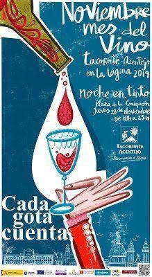La 'Noche en Tinto' invita a disfrutar los primeros vinos de la cosecha 2019 de la D. O. Tacoronte-Acentejo