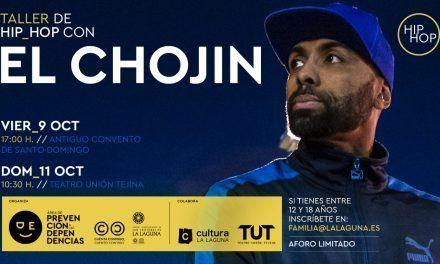 El Chojin llega a La Laguna para impartir dos talleres de hip hop para menores de entre 12 y 18 años